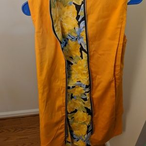Other - Custom Sewn Floral and Orange reversible dress